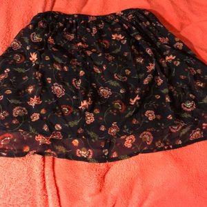 Hollister Flower Mini Skirt